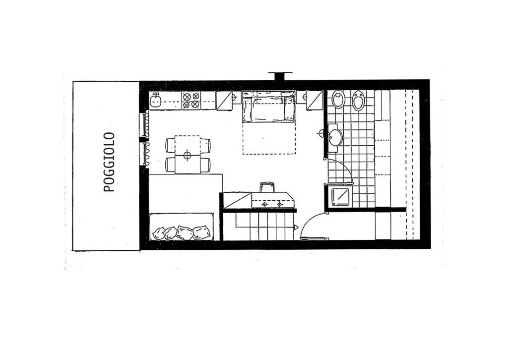 Appartamento monolocale Mansarda - 3 posti letto